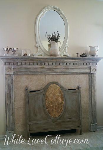 Chalk paint meets Milk paint ....Fireplace mantle