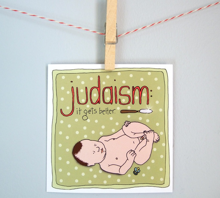 Bris, circumcision card, funny Jewish card, new baby