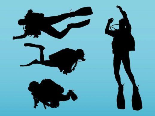 Scuba Diving Vector - AI PDF - Free Graphics download