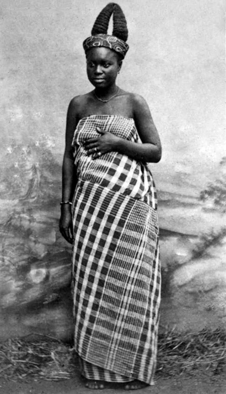 "Africa | ""A Ga girl in Adda"" Ghana. ca. 1883/1888 