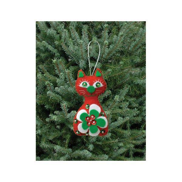Kit couture décoration de Noël : Chat de Noël - Décoration sapin de Noël