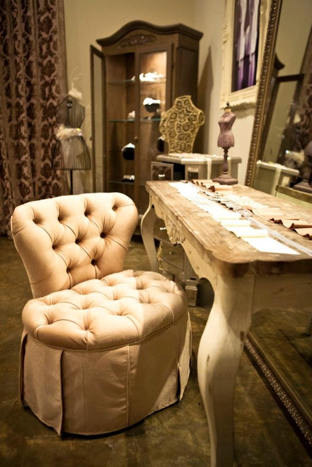 Sweet Feminine Colors, Mirrors, And Tufted Accents Lend To The Beautiful  Quality Of The