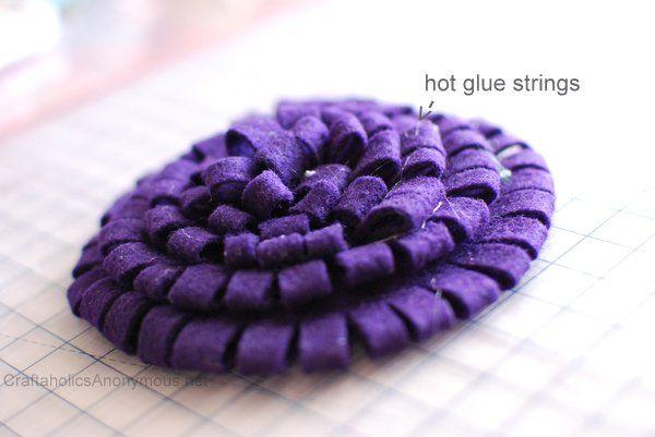 Trick to get rid of hot glue strings....hair dryer