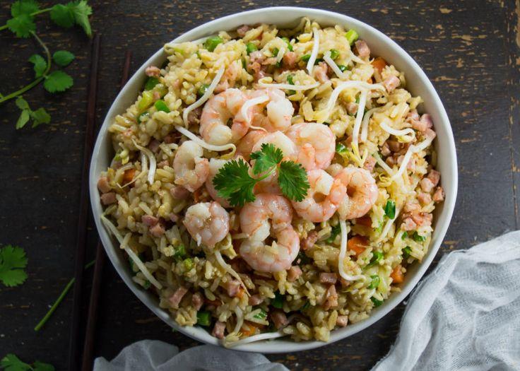 Chinese Prawn Fried Rice - Easy Low FODMAP