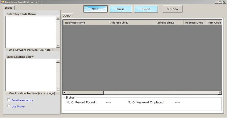 [GET] Facebook Email Extractor 1.1