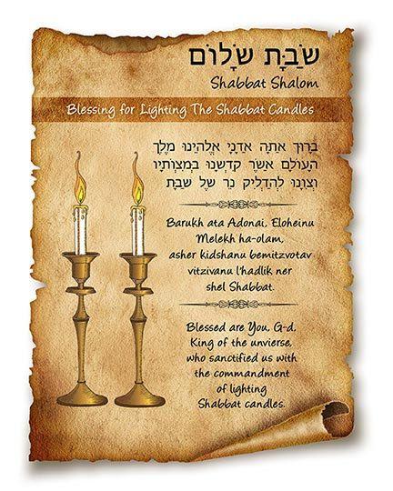 Blessing For Lighting The Shabbat Candles By AriSefarad On Etsy