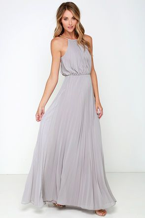 From the first dance to the last, everything will be an utter dream in the Bariano Melissa Light Grey Maxi Dress!