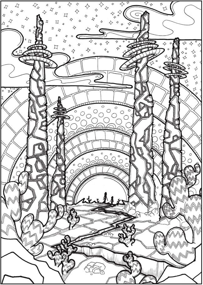 welcome to dover publications creative haven futuristic worlds coloring book