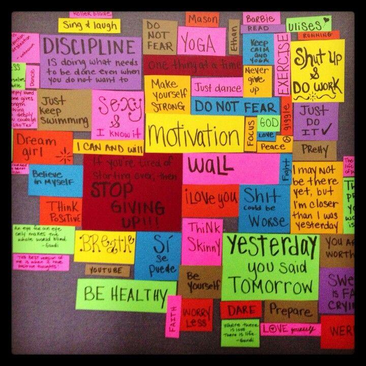 Pretty motivation wall