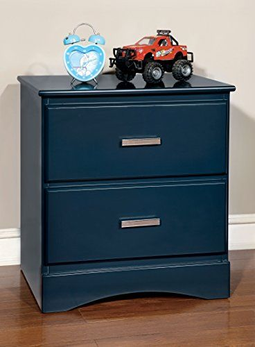 Kids' Nightstands - Furniture of America Kolora Youth Nightstand Blue -- Want to know more, click on the image.