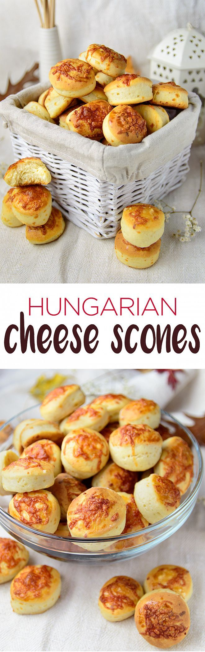 Cheese Scones or Sajtos Pogácsa are traditional Hungarian pastry, the best salty and cheesy party food you can ever bake. | myzucchinirecipes.com