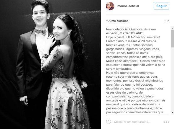 Larissa Manoela e João Guilherme anunciam término de namoro
