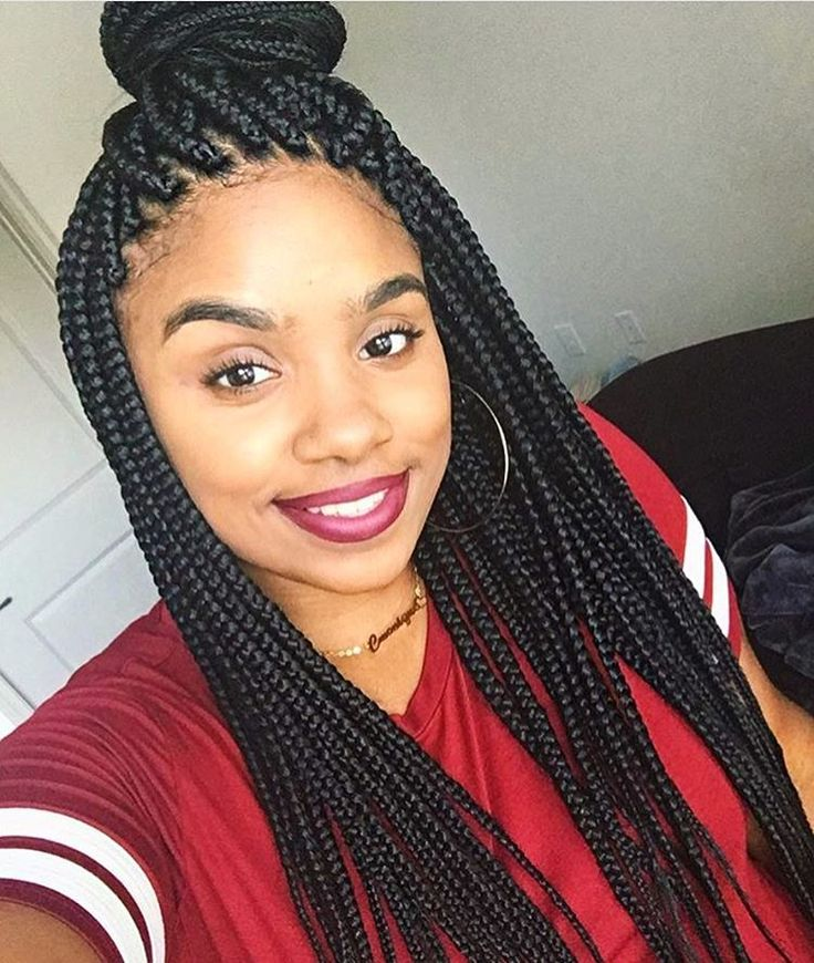Gorgeous #boxbraids @naturally_ci ❤️ #voiceofhair========================== Go to VoiceOfHair.com ========================= Find hairstyles and hair tips! =========================