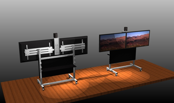 Custom designed and manufactured Video Conference Trolley / Stand