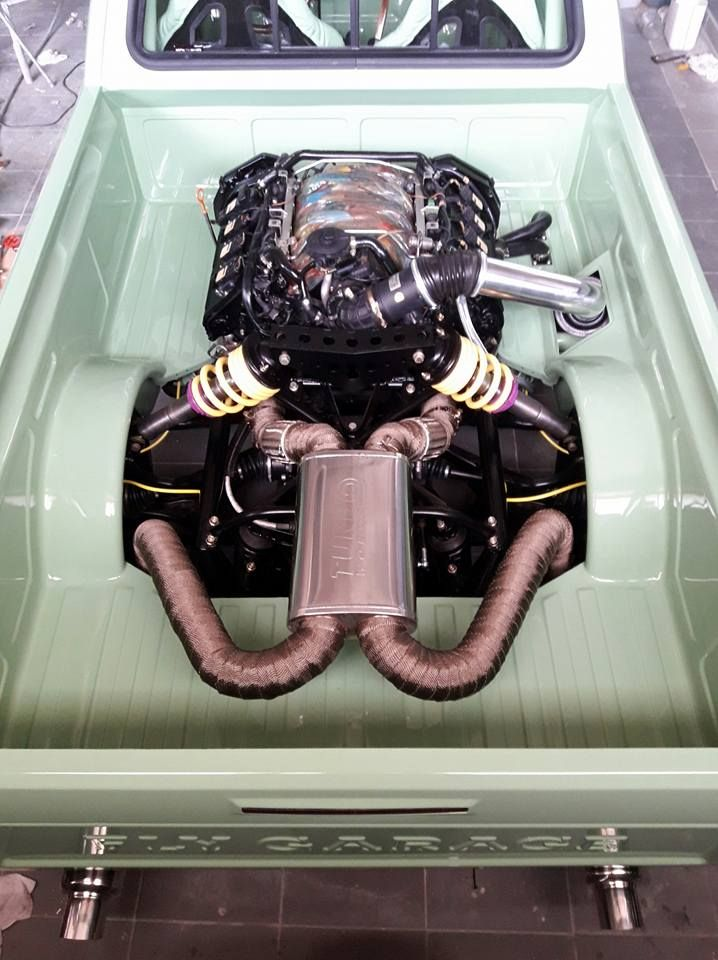 VW Caddy with an Audi V8 in the Bed | Engines | Volkswagen