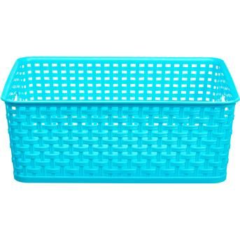 Baskets in three sizes blue  and green available ROTANLOOK MANDJE BLAUW M