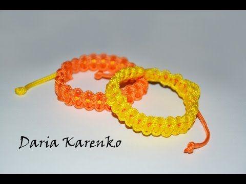 DIY Яркие летние браслеты из шнура. Мастер класс \ Bright summer bracele...