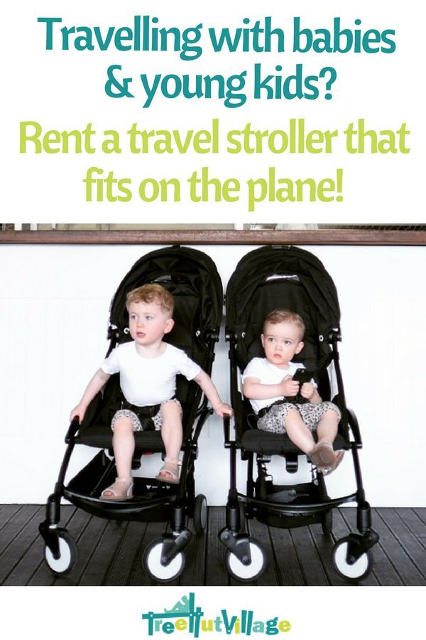Family Travel ideas - hire a stroller that fits on the plane like a Babyzen Yoyo   Click here to see how to borrow or lend baby equipment from other parents for your next family holiday   Tree Hut Village has a large range of baby rental items. #babytravel #toddlertravel #babyzenyoyo