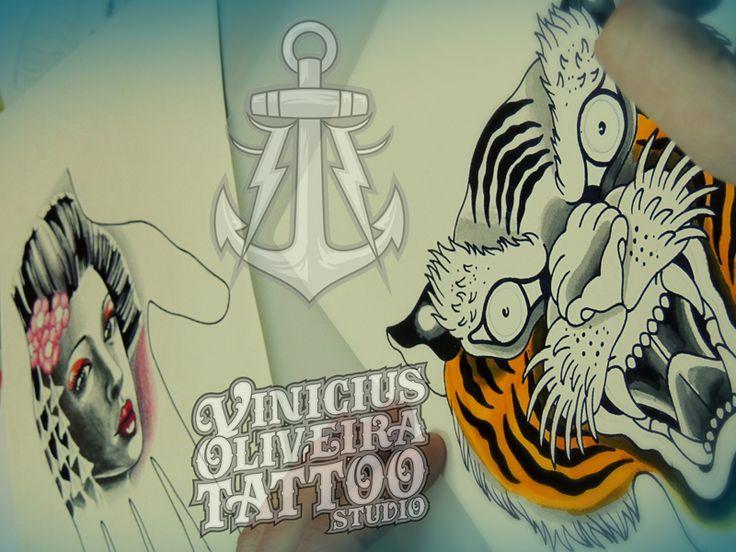 Tiger, gueixa, drawing