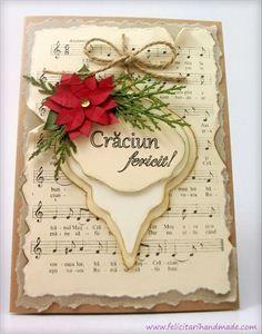 Felicitare handmade de Craciun vintage / Vintage Handmade Christmas Card