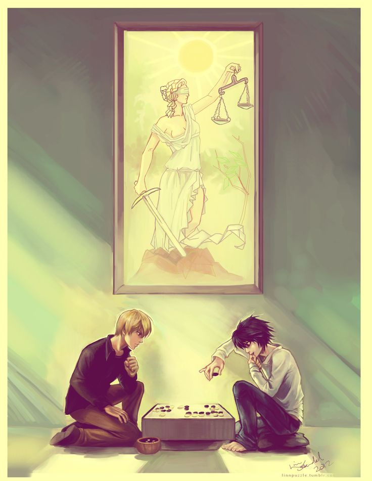 Death Note:  L and Light playing Go.