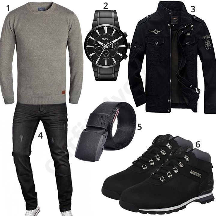 Herbst-Outfit mit Timberland Boots und Übergangsjacke (m0575) #outfit #style #fashion #ootd #männer #herren #outfit2017 #outfit #style #fashion #menswear #mensfashion #inspiration #shirt #cloth #clothing #styling #sneaker #menstyle #inspiration