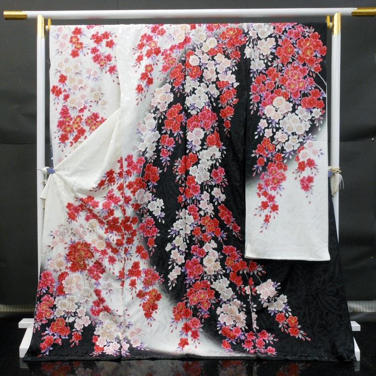 flower pattern kimono