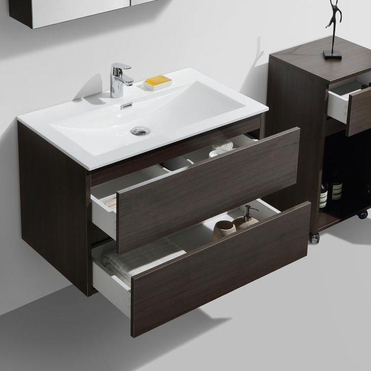 17 meilleures id es propos de salle de bain marron sur for Meuble salle de bain marron