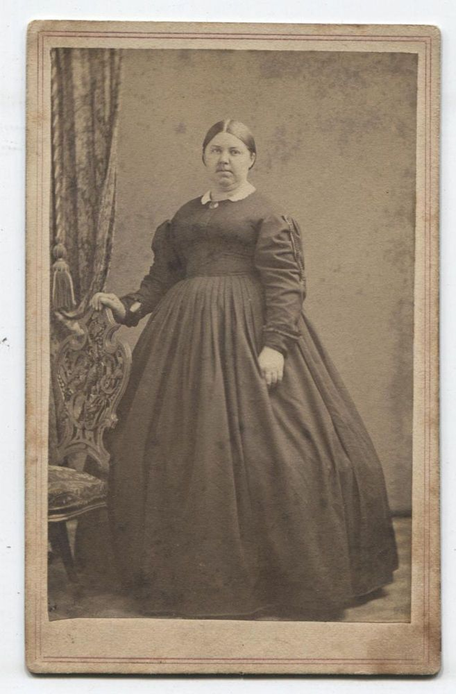 CDV CIVIL WAR ERA, PORTRAIT LARGE WOMAN. ALLEGHENY, PA. - Visit to grab an amazing super hero shirt now on sale!