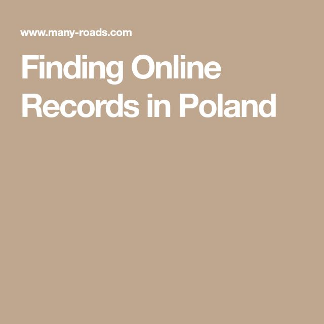 Finding Online Records in Poland