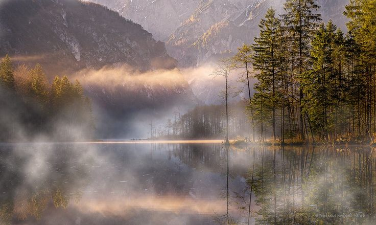 A foggy morning on the beautiful Almsee...