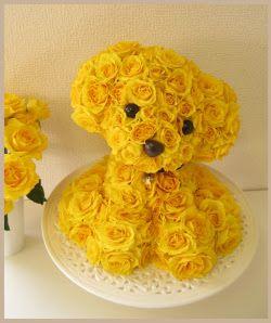 Perritos 3D. Mascotas florales.