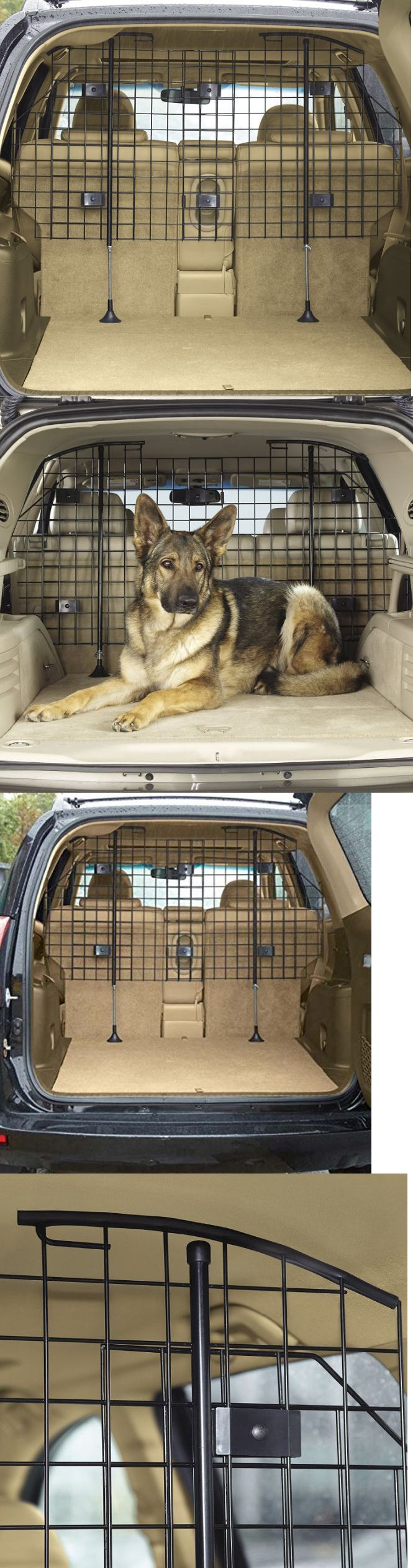 Car Seats and Barriers 46454: Suv Pet Barrier Car Dog Extendable Adjustable Size Steel Grid Safety Protection BUY IT NOW ONLY: $109.99