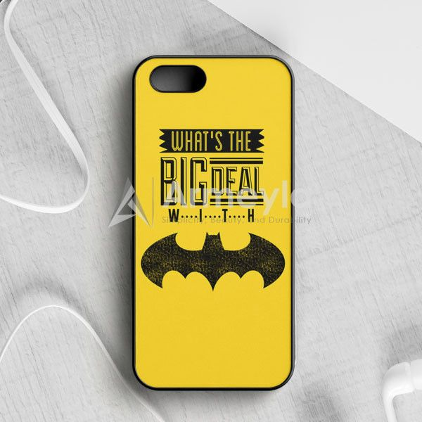 WhatS The Big Deal With Batman iPhone 5|5S|SE Case | armeyla.com