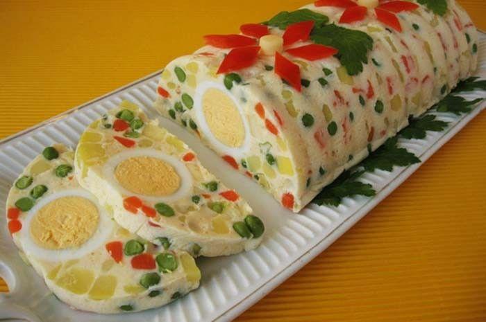 Maďarská rolka se zeleninou a vajíčkem