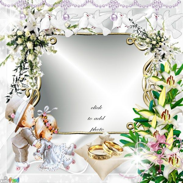 Wedding frame. Click to put your own photo in the frame ...