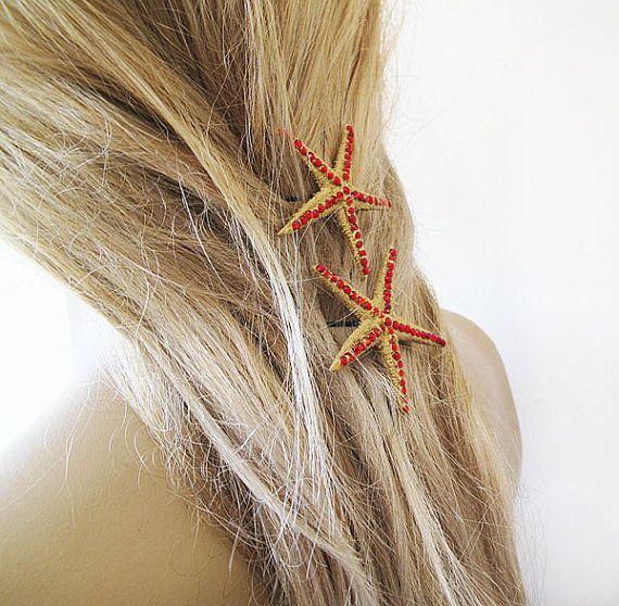 Starfish Pins Mermaid Hair Accessories Women Hair by aynurdereli, $19.90 hair #accessory #fashion #hairband