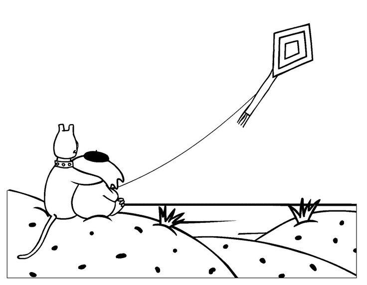 Dogs Playing Kite