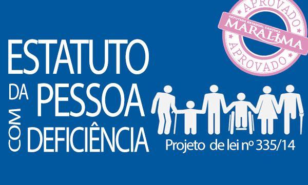 """A Deputada Cantora Mara Lima aprovou na sessão plenária desta segunda-feira (1º), na Assembleia Legislativa, o projeto de lei nº 335/14, que trata do Estatuto da Pessoa com Deficiência do Estado do Paraná  de autoria do Poder Executivo. """"Esse projeto do Governo do Estado é excelente para promover e melhorar a inclusão social e da cidadania plena de todos portadores de deficiência"""", disse a Deputada. Leia mais em: http://deputadamaralima.com.br/site/ver.php?id=1187"""