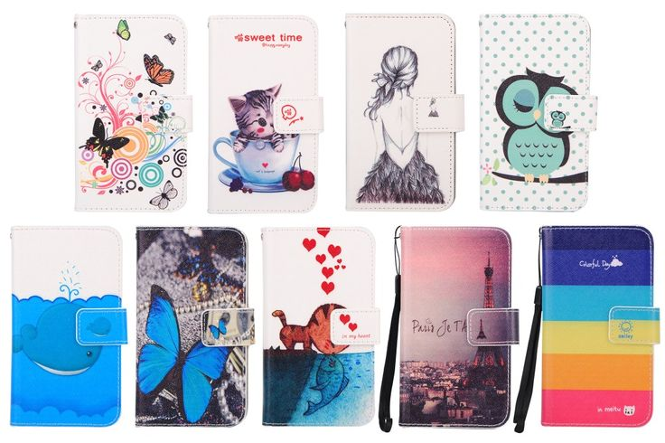 For HTC Desire 620G Case,Fashion PU Stand Flip Wallet Leather Cover Case For HTC Desire 620G With Card Slots & Lanyard gift