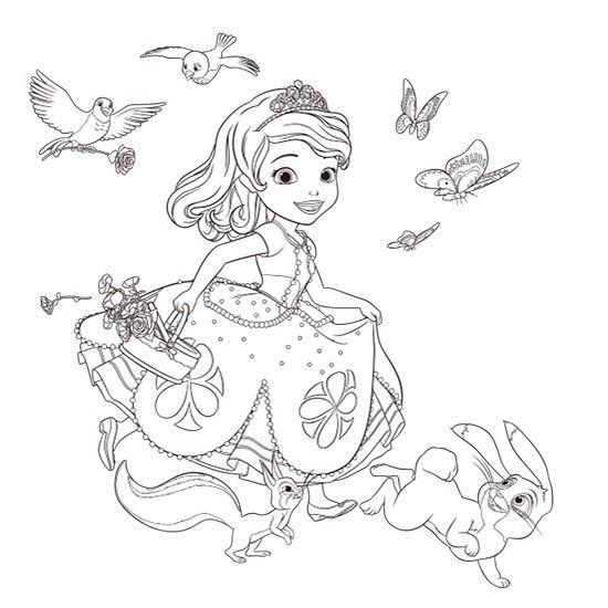 ちいさなプリンセス ソフィア ぬりえ(ソフィア)|ダウンロード|ディズニーキッズ| | Disney