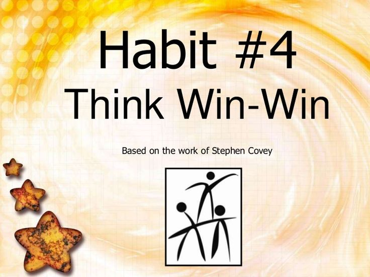 Think Win Win by danielleisathome via slideshare