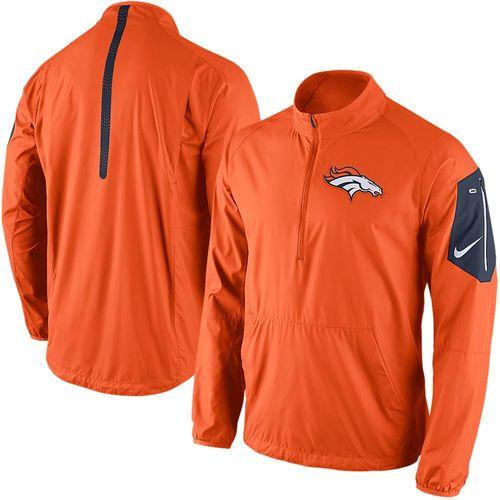 Men's Nike Orange Denver Broncos Lockdown Half-Zip Jacket - Official Denver Broncos Shop