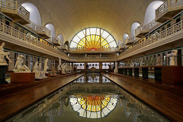 La Piscine in Roubaix, a swimming-pool-turned-museum. Charmingly old-fashioned, and with beautiful paintings and statues. A must-see.