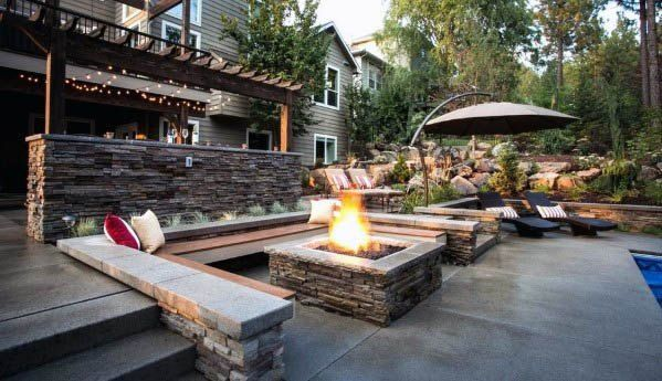 Top 50 Best Patio Firepit Ideas Glowing Outdoor Space Designs