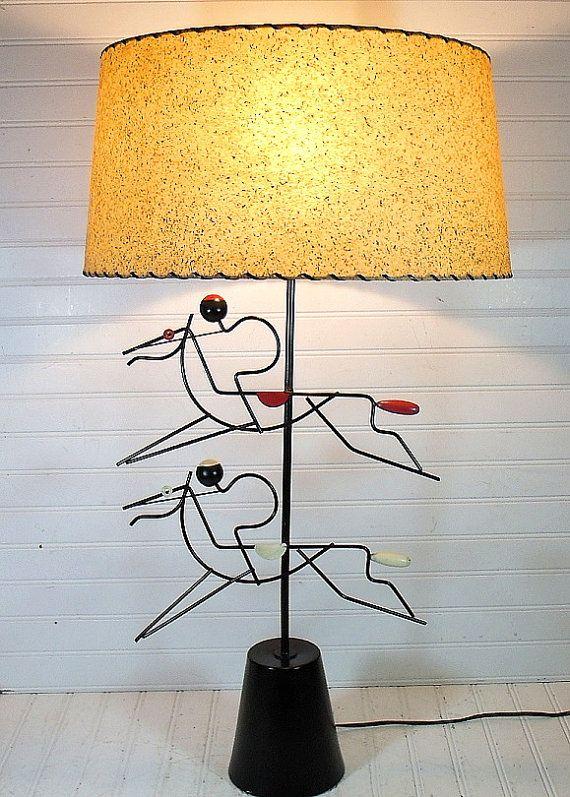 Vintage Mid Century Metal Art Lamp  Retro Horse by DivineOrders, $225.00