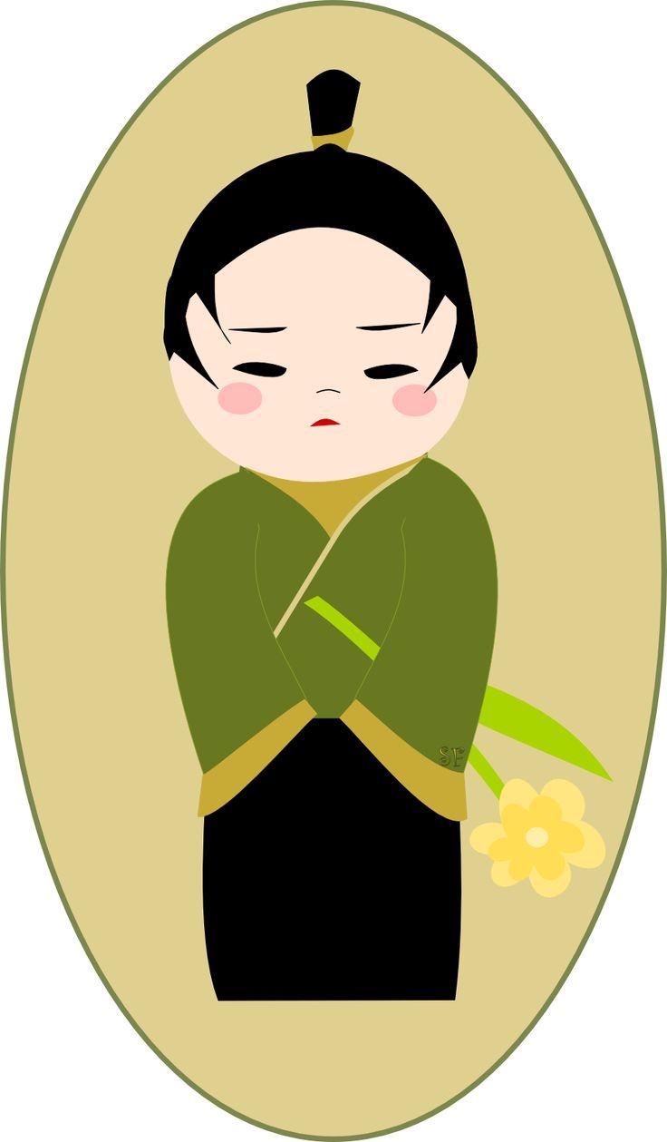 Free printable kokeshi boy sticker no 2 by meinlilapark for Stickers kokeshi