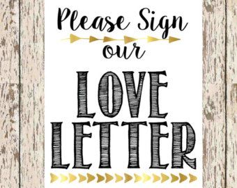 Please Sign our love letter guest book by PinkSlipInspiration
