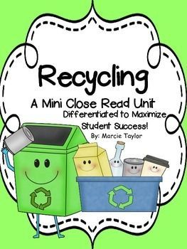 Great FREE differentiated close read... perfect for earth day!