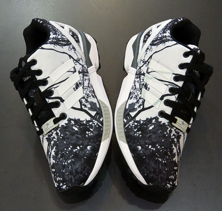 Adidas Zx Flux Black And White Floral